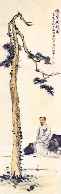 陈半丁《槐堂思亲图》1923年
